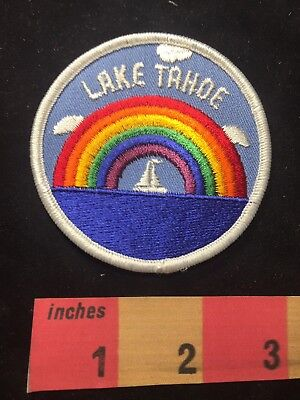 California / Nevada LAKE TAHOE RAINBOW & SAILBOAT Jacket Patch 87D8