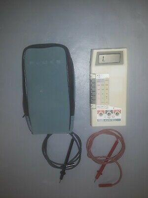 Vintage Fluke 8020a Handheld Digital Multimeter W Leads Case Manual