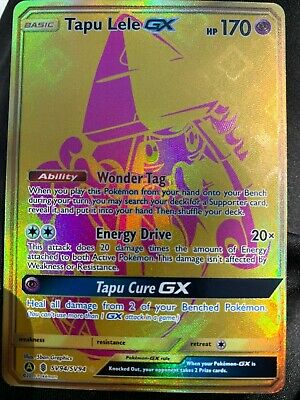 Pokemon Tapu Lele GX sv94/sv94 - secret rare full art card - Mint Condition! New