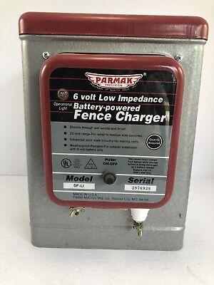Parmak Battery Operated Fence Charger Weatherproof 25 Mile Range Model Df-li