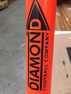 Box of 10 ORANGE boundary poles (diamond football brand) with bag