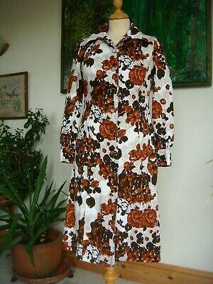 "Original Vintage 1970's "" HORROCKSES  FASHIONS "" Floral Dress Waist 30"""