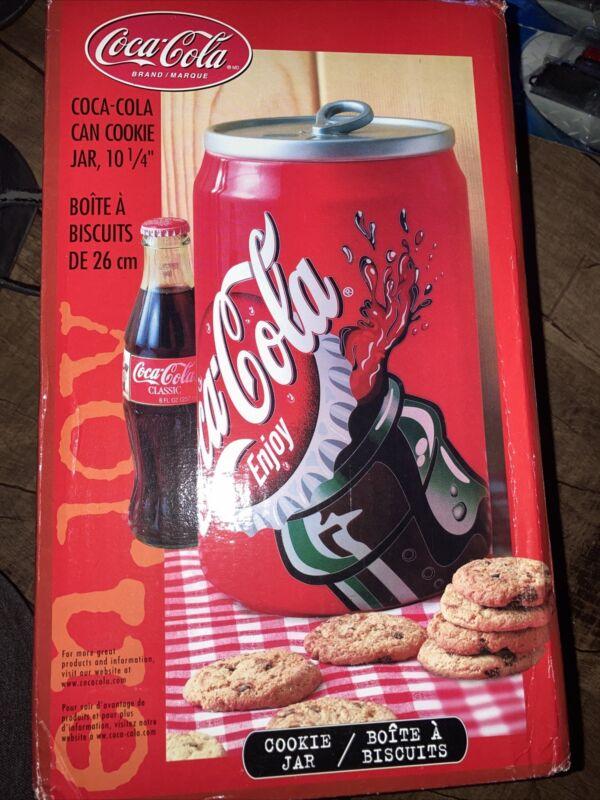 "COCA-COLA CAN COOKIE JAR 10 1/4"" TALL ORIGINAL BOX"
