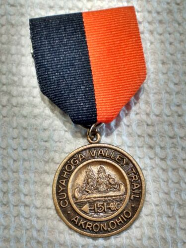 Cuyahoga Valley Trail Trail Medal Akron Ohio Boy Scouts of America 151 BSA