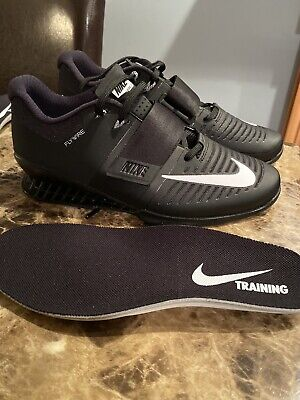 Nike Romaleos 3 Weightlifting Shoes Black White 852933-002 Men's Size 14 NEW