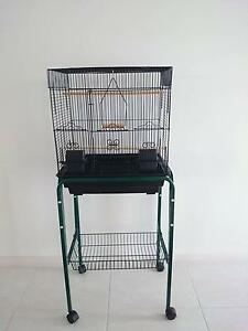 Budgie cage on stand with wheels. One Mile Port Stephens Area Preview