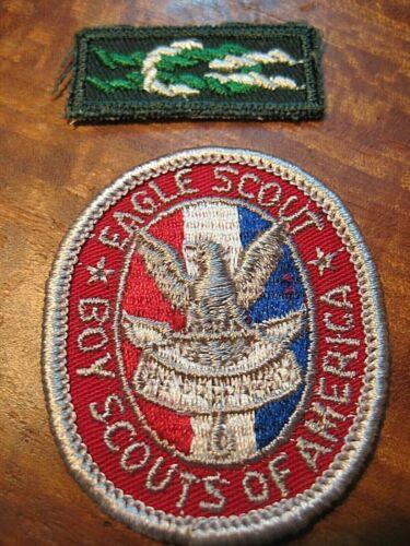 Vintage 1960s EAGLE SCOUT Rank Award Badge & SQUARE KNOT PATCHES Uniform Patch