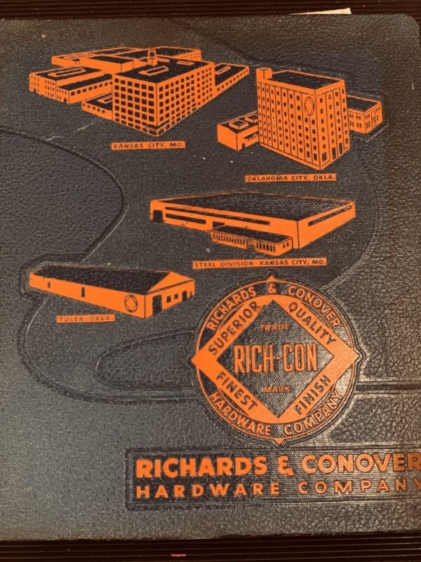 Richards & Conover Hardware Company Expandable Binder with Catalog & Manuals 50s