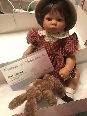 """2002 one week production Lee Middleton doll """"COUNTRY CHARM""""  by Reva Schick"""