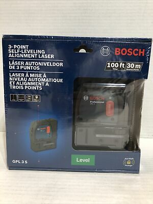 Brand New Sealed Bosch Gpl 3 S 100ft 3-point Self-leveling Alignment Laser
