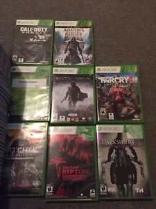 8 Xbox 360 games perfect condition