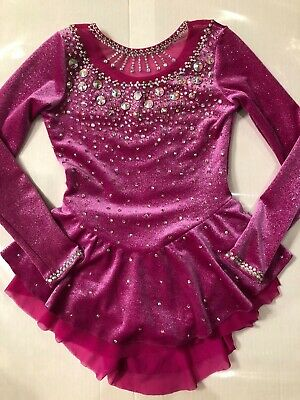 ChloeNoel Custom Crystallization Ice Figure Skating Dress Child Size Sm age 6-8  - Custom Childrens Clothes