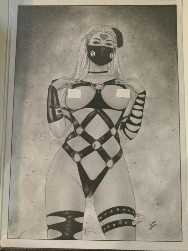 Original Comic Art PinUp Sexy Do-s Anime Tim Grayson Original Realism Art Sketch