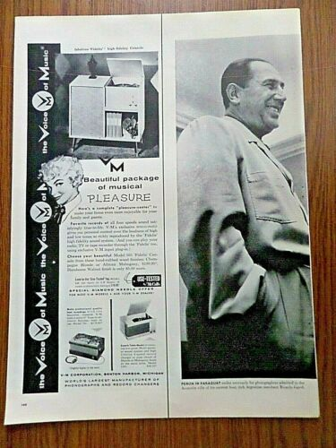 1955 V-M Voice of Music Ad  Phonographs Recorders