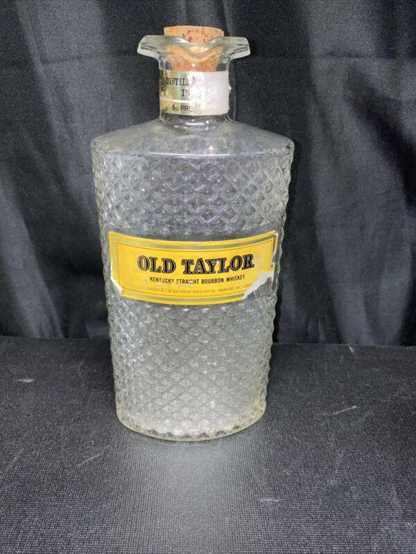 Vintage Bottle Old Taylor Kentucky Straight Bourbon Whiskey