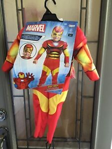 Ironman costume with mask size 2 T ( Toddler )