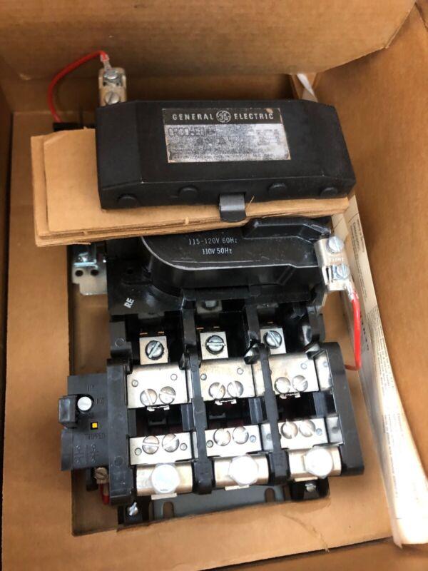 GE CR306E002 Motor StarterNEMA SIZE 3 115-120V coil  3 pole phase 575 volt NOS