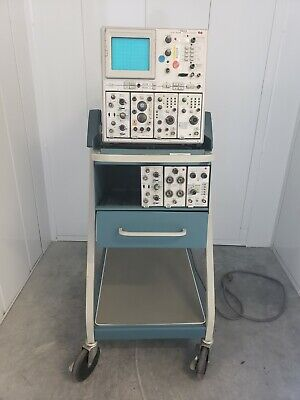 Tektronix 7844 Dual-beam Oscilloscope Scope-mobile Type 204 With Probes Cables