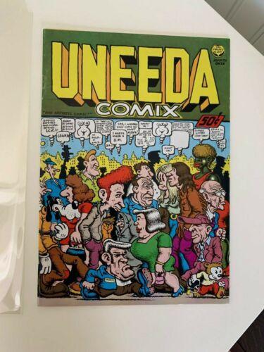 UNEEDA comix 1st printing Fine Plus Crumb (100%) Underground [Print Mint 1970]