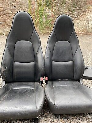 Mazda MX5 (89-05) BLACK HEATED LEATHER SEATS - PAIR