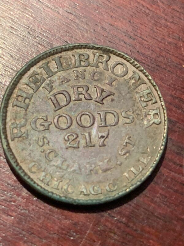 Chicago Illinois Civil War Token R Heilbroner Very Rare M274