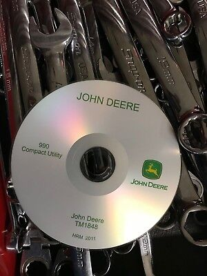 John Deere 990 Compact Utility Tractor Technical Service Manual Cd Tm1848
