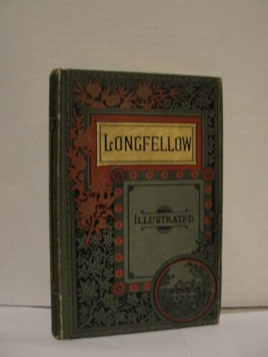 """1888 BOOK """"LONGFELLOW""""  THE POLITICAL WORKS - ILLUSTRATED"""