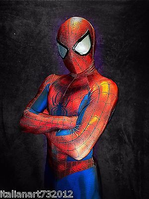 High Quality Marvel Ultimate Spider-Man 3D Printing with Muscle Shading Costume (Ultimate Spiderman Costume)