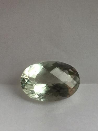 Genuine Prasiolite 14.16 x 10.13 x 6.92 MM Checkerboard Cut Oval Shape 5.47 Ct
