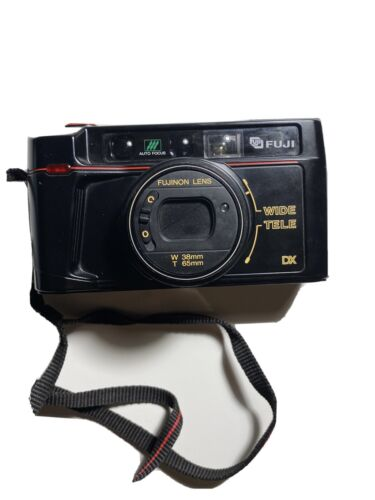 Fuji TW-300 35mm Point And Shoot Camera With TeleConverter Lens - W 38mm T 65mm - $45.00