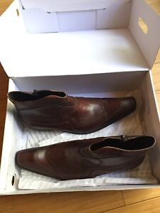BRAND NEW ALDO LEATHER DRESS BOOTS SIZE 9 mens