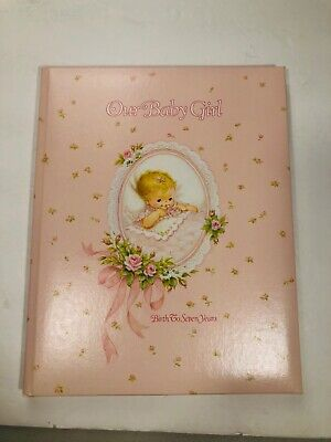 Vintage Gibson 1981 Baby Girl Memories Record Book Lois Jackson Art New in Box