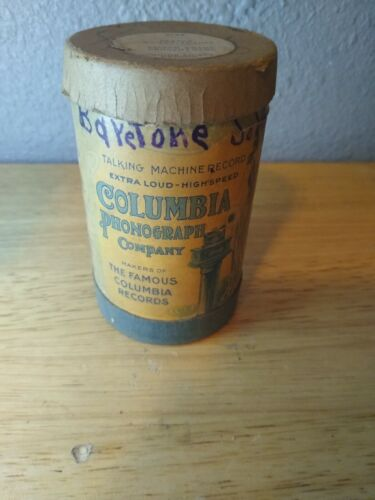 """Vintage Antique Columbia Wax Cylinder Record 1560-5 """"Then You"""