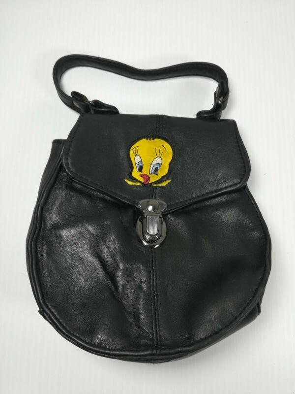 Vintage Small Tweety Bird Looney Tunes Leather Purse Bag