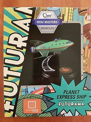 Loot Crate Futurama Planet Express Ship Model Q-Fig from QMX July 2016
