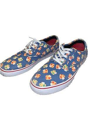 Vans Mens Size 11.5 Chima Ferguson Pro Nintendo Mushrooms Blue Skate Shoes