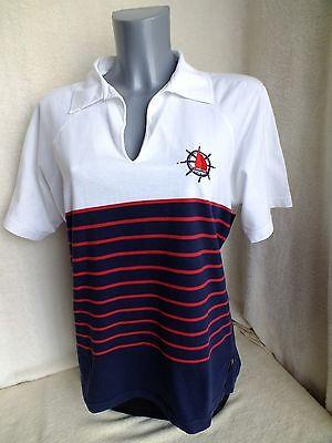 CHICC Damen Bluse T-Shirt  Poloshirt Gr. M mit Seemannsmotiv