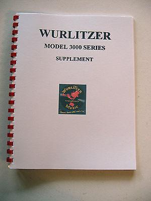 Wurlitzer Model 3000 Supplement Jukebox Manual