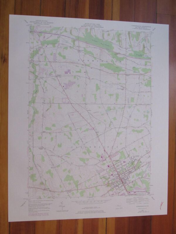 Canandaigua New York 1978 Original Vintage USGS Topo Map
