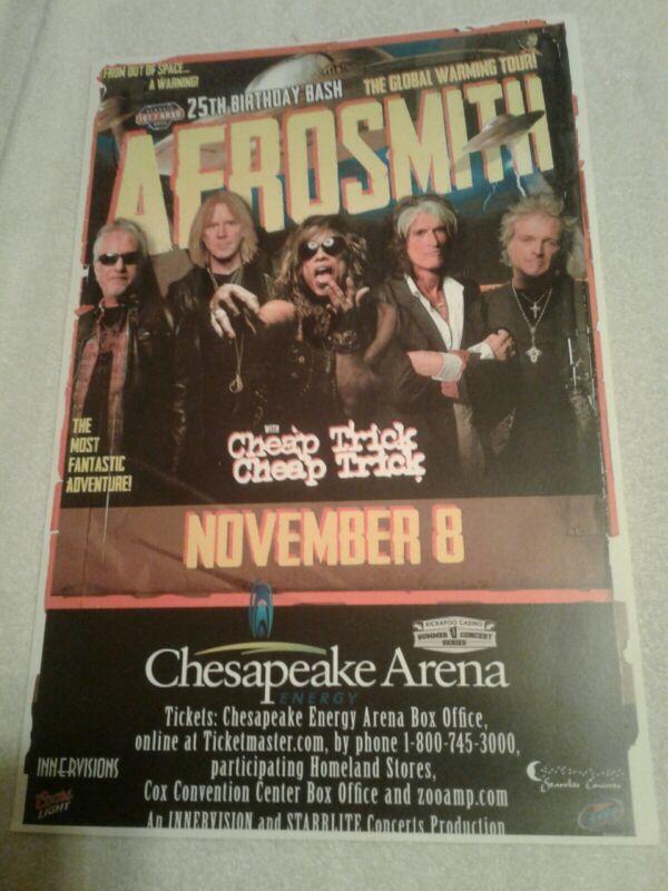 Concert Poster AEROSMITH Global Warming Tour 2012 Chesapeake Arena OKC