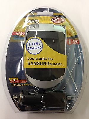 SAMSUNG SLB0837 DC03 Wall & Car Charger by Digital Sunflash - Silver
