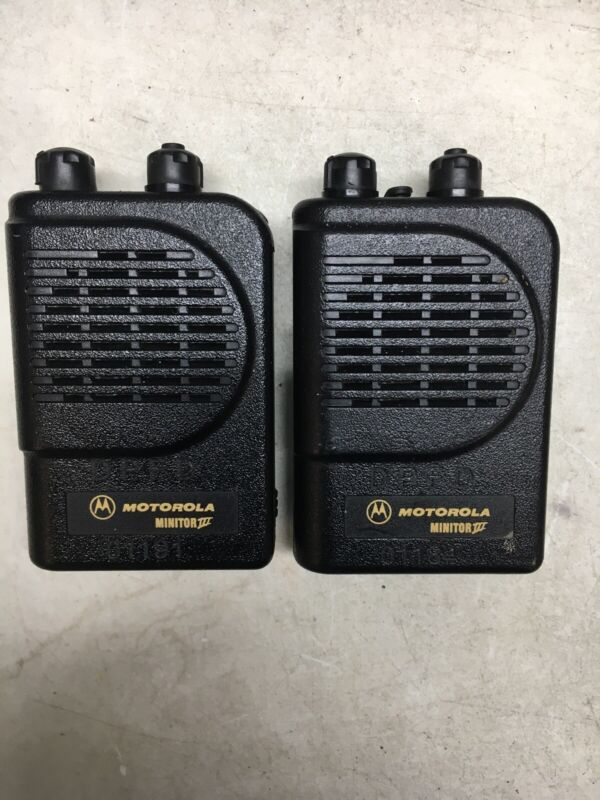 Lot Of 2 Motorola Minitor III (3) VHF Pager No Charger
