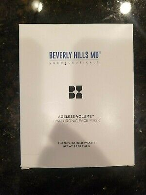 Beverly Hills MD Ageless Volume Hyaluronic Face Mask 0.7 oz Packets Box of 8 NIB Beverly Hills Masque