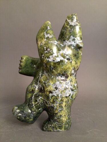 Inuit Art Eskimo carving Johnny Manning  Bear  66615  2019