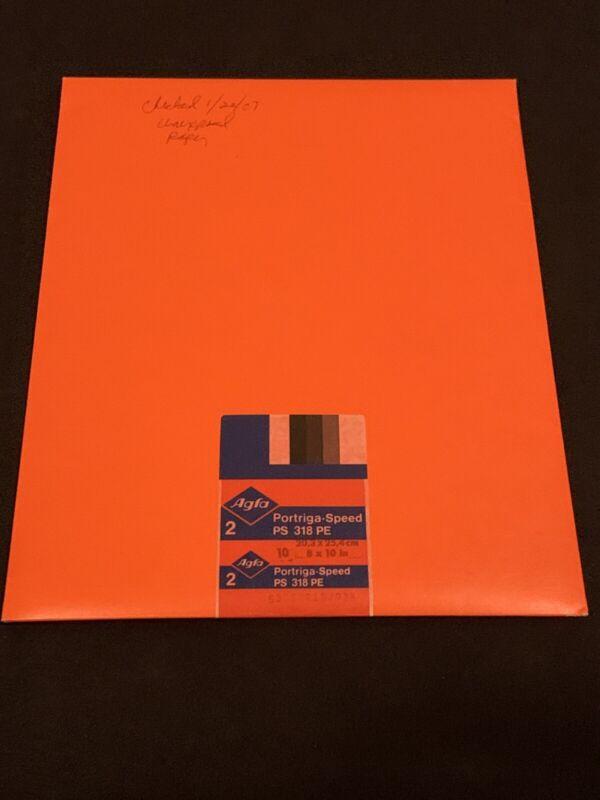 "Open Agfa PS 318 PE Fine Grained Matt Photo Paper 8""x10"" Made In Germany"