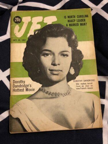 Rare! Jet Magazine Oct 1957 Cover Photo of Dorothy Dandridge