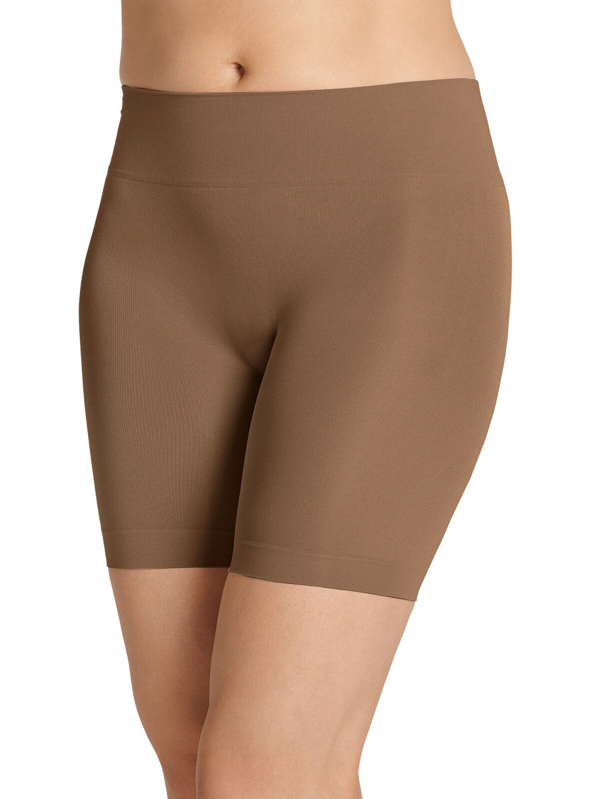 ***NEW JOCKEY LIFE COLLECTION SEAMFREE NO CHAFE SMOOTH SLIPSHORT (ALMOND) Clothing, Shoes & Accessories