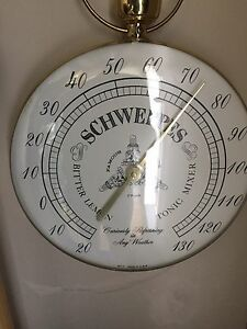 Schweppes thermometer