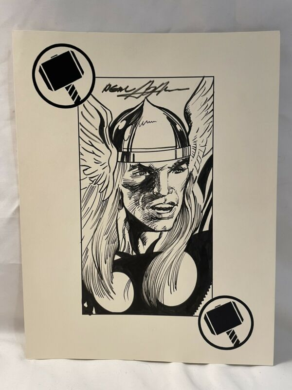 Neal Adams Original Comic Art Sketch (8 1/2 X 11) Avengers - Thor