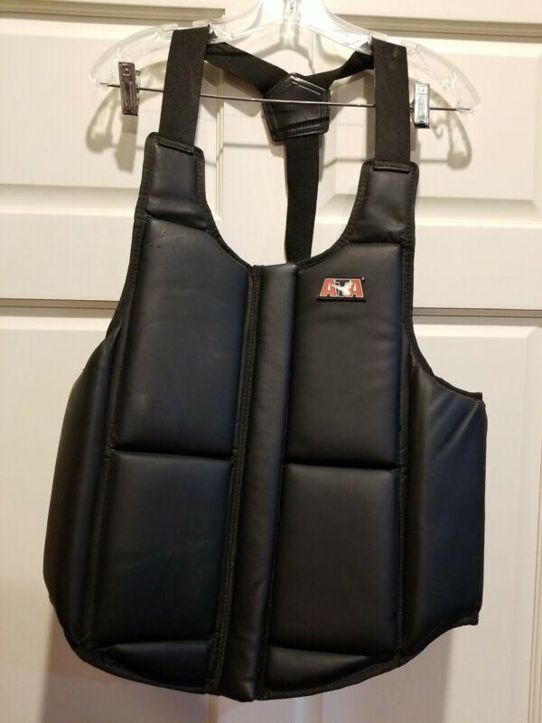 ATA Karate Taekwondo Chest Guard Protector Sparring Gear Vest Adult Size XXL-EX